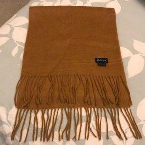 100% cashmere scarf. Camel color. Alashan brand.